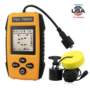 Fish Finders Fishing lure Alarm 100M Portable Sonar Sensor Portable Fishfinder