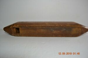Antique Primitive Unique Hinged Wooden Candle Box