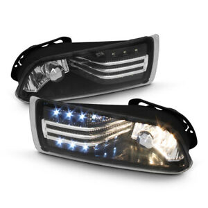 2005 2010 Scion Tc Driving Bumper Fog Lights W Led Strip Left Right Replacement