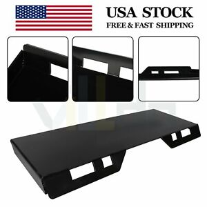 5 16 Skid Steer Mount Plate Hitch Quick Tach Attachment Adapter Heavy Duty 50