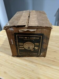 Antique New Old Stock Westinghouse Type Y Ammeter In Original Box