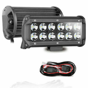 2 X7 Led Work Light Bar Spot Lights Off Road Driving Fog Atv Utv Truck Wiring