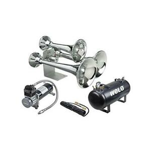 Wolo Model 837 860 Cannonball Express Pro Plus Train Horn And Air System
