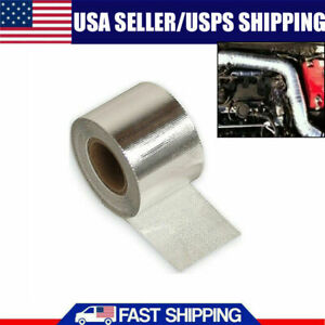 16ft Fiberglass Wrap Barrier Tape Heat Shield Roll Exhaust Car Protection Silver