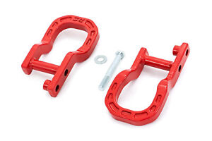 Rough Country Forged Red Tow Hooks For 2014 2018 Chevy Silverado 1500 Rs134