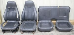 1993 1997 Camaro Ss Z28 Graphite Leather Seat Set Used cores Hot Rod Swap