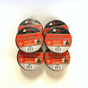 10 Rolls Electrical Tape Ul Listed Black 3 4 X 50 Free Shipping