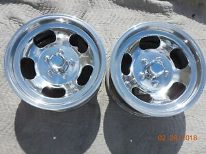Vintage 15x7 Slot Mag Wheels 5 On 4 5 And 5 On 5 Ford Chevy Truck Van Mopar Gm