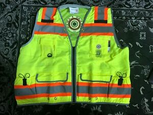 Majestic High Visibility Yellow Heavy Duty Surveyor s Vest Ansi Class 2 Rated