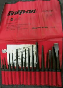 New Snap On Tools 16 Piece Starter Pin Center Punch Chisel Set Ppc715bk
