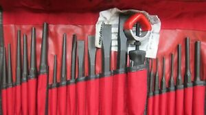 Snap On Ppc210bk 21 Piece Punch Chisel Set W Bag New