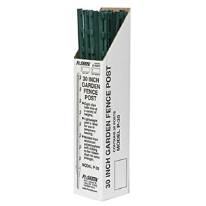 Fi shock P 30g Green Garden Post For Fence 25 Pack 30