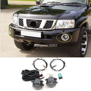 For Nissan Patrol 2005 2008 Front Fog Light Assembly W Cover Switch Wiring
