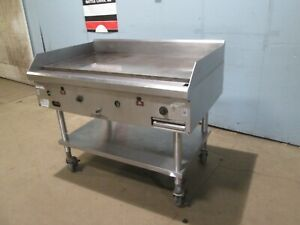 southbend Hdg 48 H D Commercial Natural Gas 48 Griddle flat Top Grill W stand