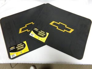 2 New Chevrolet Chevy Gm Bowtie Car Truck Suv Floor Utility Mats 001217