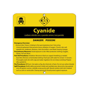 Square Metal Sign Multiple Sizes Cyanide Carbon Nitride Ion Anion Isocyanide
