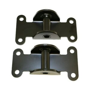 Small Block Chevy Black Solid Engine Frame Mount Set 327 350 400 Off Road Racing