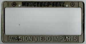 Mission Viejo Imports Mercedes Benz Mb Vintage Dealer License Plate Frame