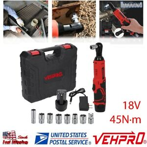 18v 3 8in Cordless Electric Ratchet Wrench Power Tool Set W Battery Charger
