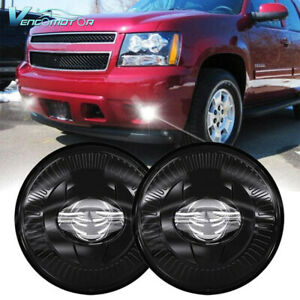 2x Round Bumper Led Fog Lights Fit For Chevy Avalanche Suburban Tahoe Silverado