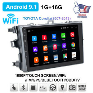 For Toyota Corolla 2006 2012 Gps Navigation Android9 1 Car Stereo Radio 1gb 16gb