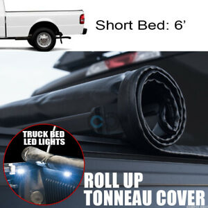 Roll up Soft Tonneau Cover 16x Led Lights 83 11 Ford Ranger 6 Ft Truck Short Bed