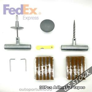 Tire Repair Kit To Fix Punctures And Plug Flat For Car Truck Motorcycle Atv Us