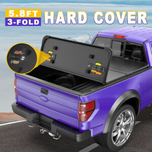 Hard 3 fold Tonneau Cover For 19 21 Gmc Sierra Chevy Silverado Truck Bed 5 8ft