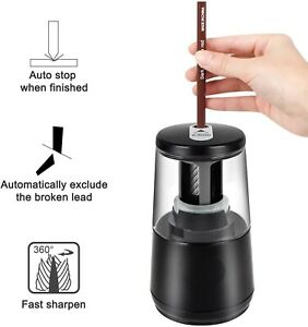 Electric Pencil Sharpener Automatic Touch Switch School Student Office Classroom
