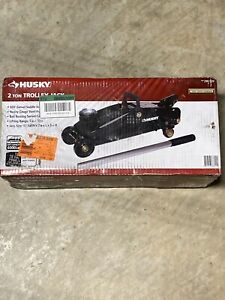 Husky 2 ton Hydraulic Trolley Jack Removable Handle Heavy Gauge 296020