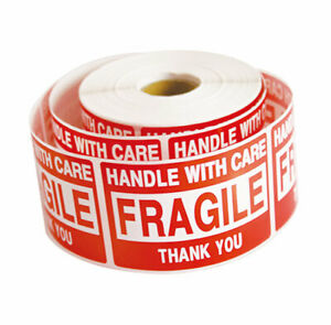 2 Rolls 1000 2 X 3 Fragile Handle With Care Stickers Labels