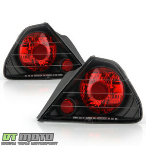 For Black 1998 2002 Honda Accord 2 door Coupe Tail Lights Brake Lamps Left right