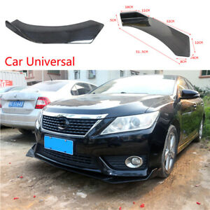 Abs Car Gloss Black Front Bumper Distributor Diffuser Body Protector Universal