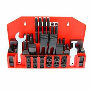 5 8 T slot Clamp Kit 58 Pcs 1 2 13 Stud Hold Down Clamping Machine Mill Drill