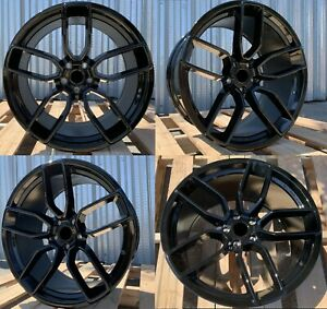 20 Inch Gloss Black Wheels 20x9 5 20x10 5 Fit Dodge Charger Challenger Set 4