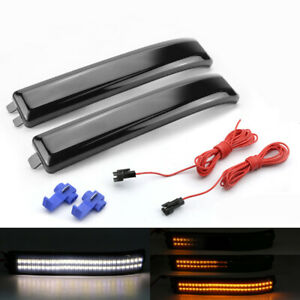 Smoke Sequential Led Side View Mirror Turn Signal Light For 2009 2014 Ford F 150
