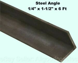 Steel Angle Iron 1 4 X 1 1 2 X 6 Ft Hot Rolled Carbon Steel 90 Stock Mill