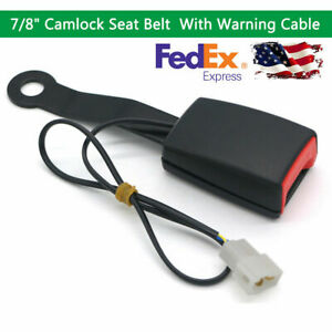 Black Car Front Seat Belt Buckle Padding Socket Plug Connector W warning Cable