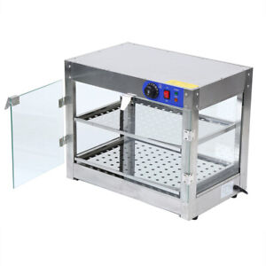 Samger Commercial Countertop Food Pizza Warmer Display Cabinet Case 2 tier 750w