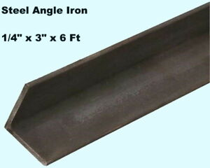 Steel Angle Iron 1 4 X 3 X 6 Ft Hot Rolled Carbon Steel 90 Stock Mill