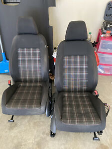 Mk6 Vw 2010 2014 Gti Cloth Plaid Seats Front Passenger And Driver 4 Door