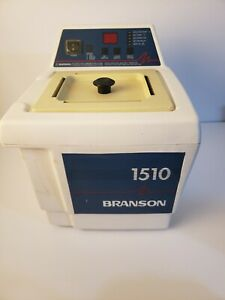 Branson 1510 Ultrasonic Cleaner W Basket Lid And 2 Full Bottles Jewlery