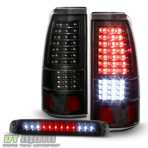 1999 2006 Gmc Sierra 99 02 Silverado Blk Full Led Tail Lights Led 3rd Brake Lamp