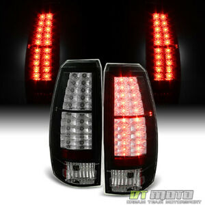 Black 2007 2013 Chevy Avalanche Lumileds Led Tail Lights Brake Lamps Left right