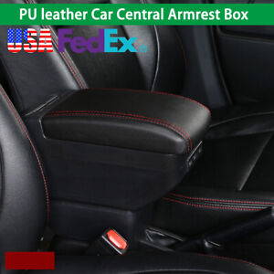 1x Car Armrest Center Console Handrails Box Storage Universal 9 Usb Charge Port