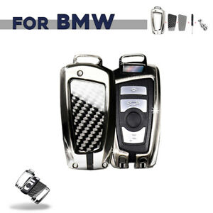 M Carbon Fiber Alloy Car Key Fob Case Protector Cover Shell For Bmw Accessories