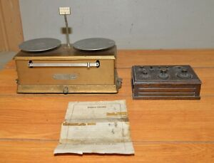 The Torsion Balance Co Scale No 4555 Collectible Gold Jeweler Tool Weight Set