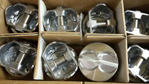 302 Ford Hypereutectic Pistons 040 Over Flat Tops Floating Pins