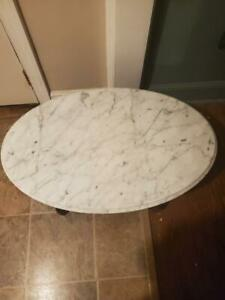 Victorian Style Coffee Table Solid Mahogony Italian Marble Top