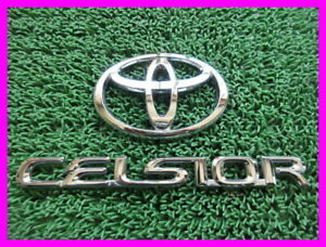 Toyota Genuine Ucf30 31 Celsior Emblem Set Trunk Rear Japan Car Free Shipping